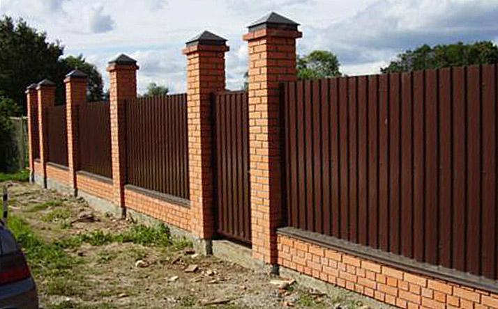 Забор из профнастил с20